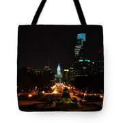 The Parkway At Night Tote Bag