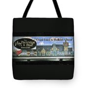 The Partridge And Pear Restaurant Tote Bag