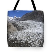The Passu Glacier And Mountains Tote Bag