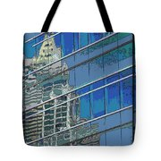 The Past Reflecting On The Present Tote Bag