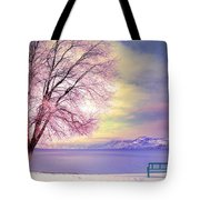 The Pastel Dreams Of Winter Tote Bag
