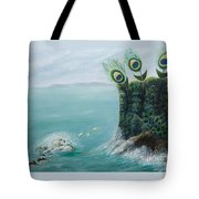 The Peacock Cliffs Tote Bag
