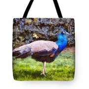 The Peacock Tote Bag by Pixel  Chimp
