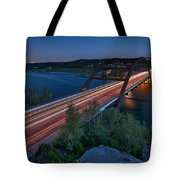 The Pennybacker Bridge At Twilight Tote Bag