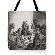 The People Mourning Over The Ruins Of Jerusalem Tote Bag