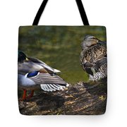 The Perfect Mallard Couple Tote Bag