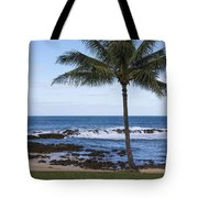 The Perfect Palm Tree - Sunset Beach Oahu Hawaii Tote Bag