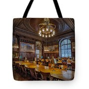 The Periodical Room At The New York Public Library Tote Bag by Susan Candelario