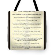 The Pet 10 Commandments With Bevelled Border Tote Bag