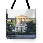 The Philadelphia Art Museum From The Parkway Tote Bag