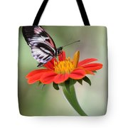 The Piano Key Butterfly Tote Bag