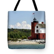 Round Island Lighthouse Mackinac The Picnic Spot Tote Bag