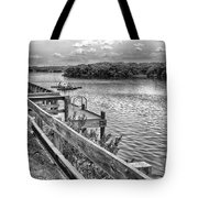 The Pier At Channel 4 Tote Bag