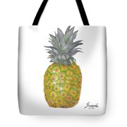 The Pineapple On White Tote Bag