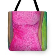 The Pink Dress Tote Bag