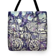 the PINK FLOYD in concert - drawing portrait Tote Bag