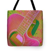 My Pink Guitar Pop Art Tote Bag