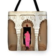 The Pink Sari Tote Bag