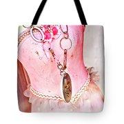 The Pink Tutu Dress With The Fleur De Lis Tote Bag