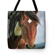 The Pinto Horse Portrait Tote Bag