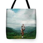The Piper At The Great Glen Tote Bag