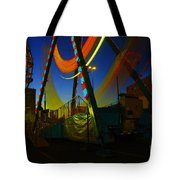 The Pirate Ship And Big Wheel  Tote Bag