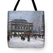 The Place Du Chatelet Paris Tote Bag