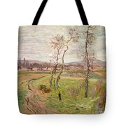 The Plain At Gennevilliers Tote Bag by Claude Monet