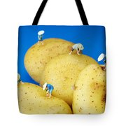 The Planting On Potatoes Little People On Food Tote Bag