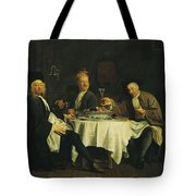 The Poet Alexis Piron 1689-1773 At The Table With His Friends, Jean Joseph Vade 1720-57 And Charles Tote Bag