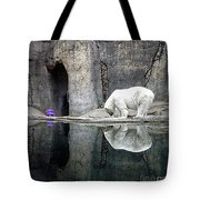 The Polar Bear And The Purple Chair Tote Bag