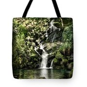 The Pond And The Forest Waterfall Tote Bag
