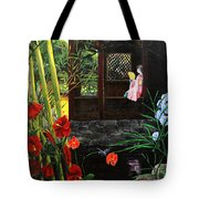 The Pond Garden Tote Bag by D L Gerring