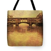 The Ponte Vecchio In Florence Italy Tote Bag
