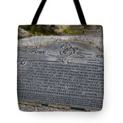 The Pony Express Marker Tote Bag
