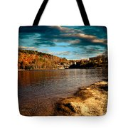The Pool Below Upper Falls Rumford Maine Tote Bag by Bob Orsillo