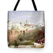 The Pool  Of Bethesda Jerusalem Tote Bag