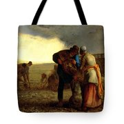 The Potato Harvest Tote Bag by Jean Francois Millet