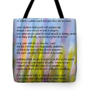 The Power Of Love Vignette Tote Bag