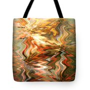 Gray And Orange Peaceful Abstract Art Tote Bag