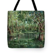 The Preacher And His Flock Tote Bag