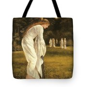 The Princess Tied To A Tree Tote Bag by Sir Edward Coley Burne-Jones