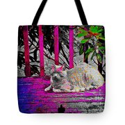 The Psychedelic Cat Tote Bag