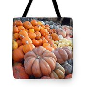 The Pumpkin Stand Tote Bag by Richard Reeve