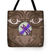 The Purple Express Tote Bag