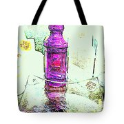 The Purple Medicine Bottle Tote Bag
