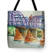The Purple People Bridge Tote Bag