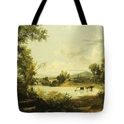 The Quiet Valley Tote Bag by Jasper Francis Cropsey