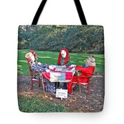 The Quilting Bee Scarecrows Tote Bag