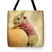 The Rabbit And The Pumpkin Tote Bag